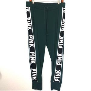 PINK side spellout joggers high waist sweatpants
